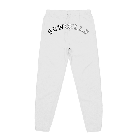 BowHello Sweatpants - White