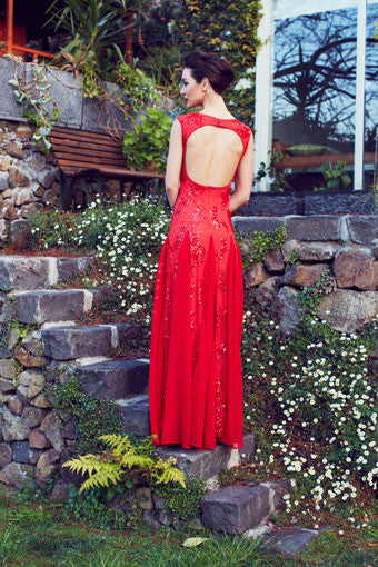 Laetitia Red Gown
