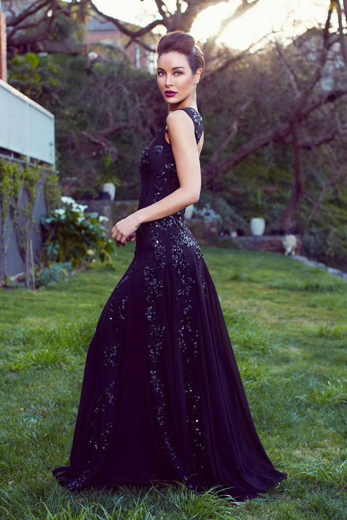 Laetitia Black Gown