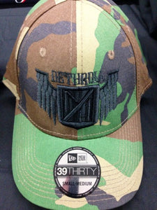 Camo Hat with Black embroidery