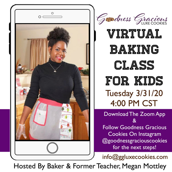 Supplies & Ingredients For Virtual Baking Class For Kids
