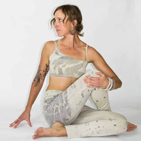 naturally eco dyed hemp organic cotton yoga leggings