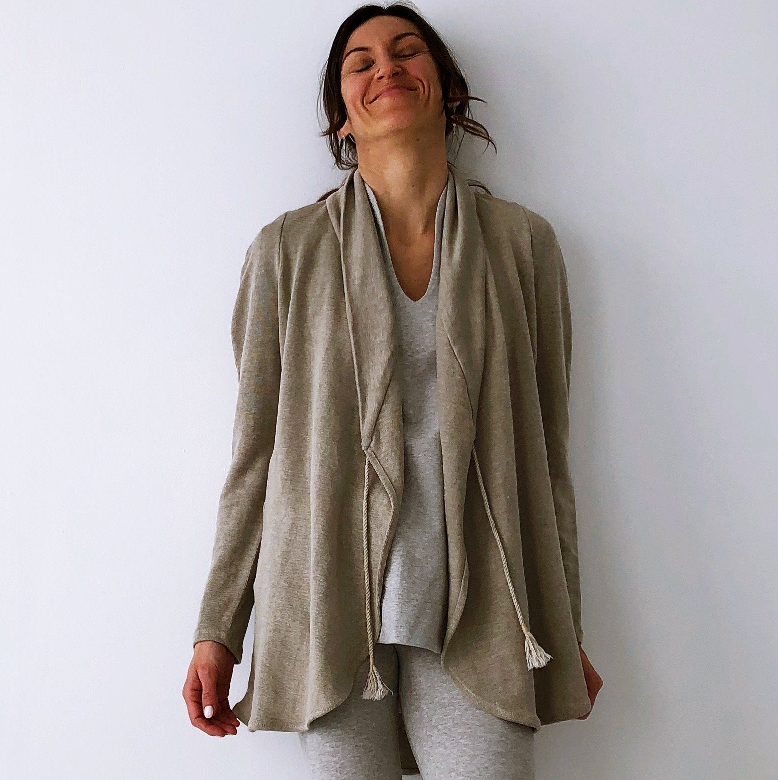 The Lotus Cardigan - Hemp