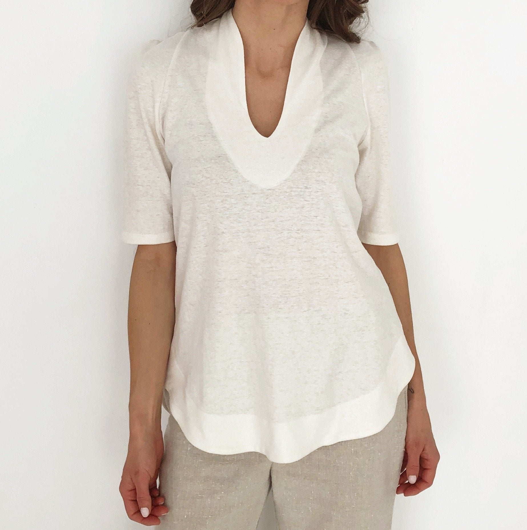 The Harmony Tunic - Mid Sleeve - Hemp and Organic Cotton