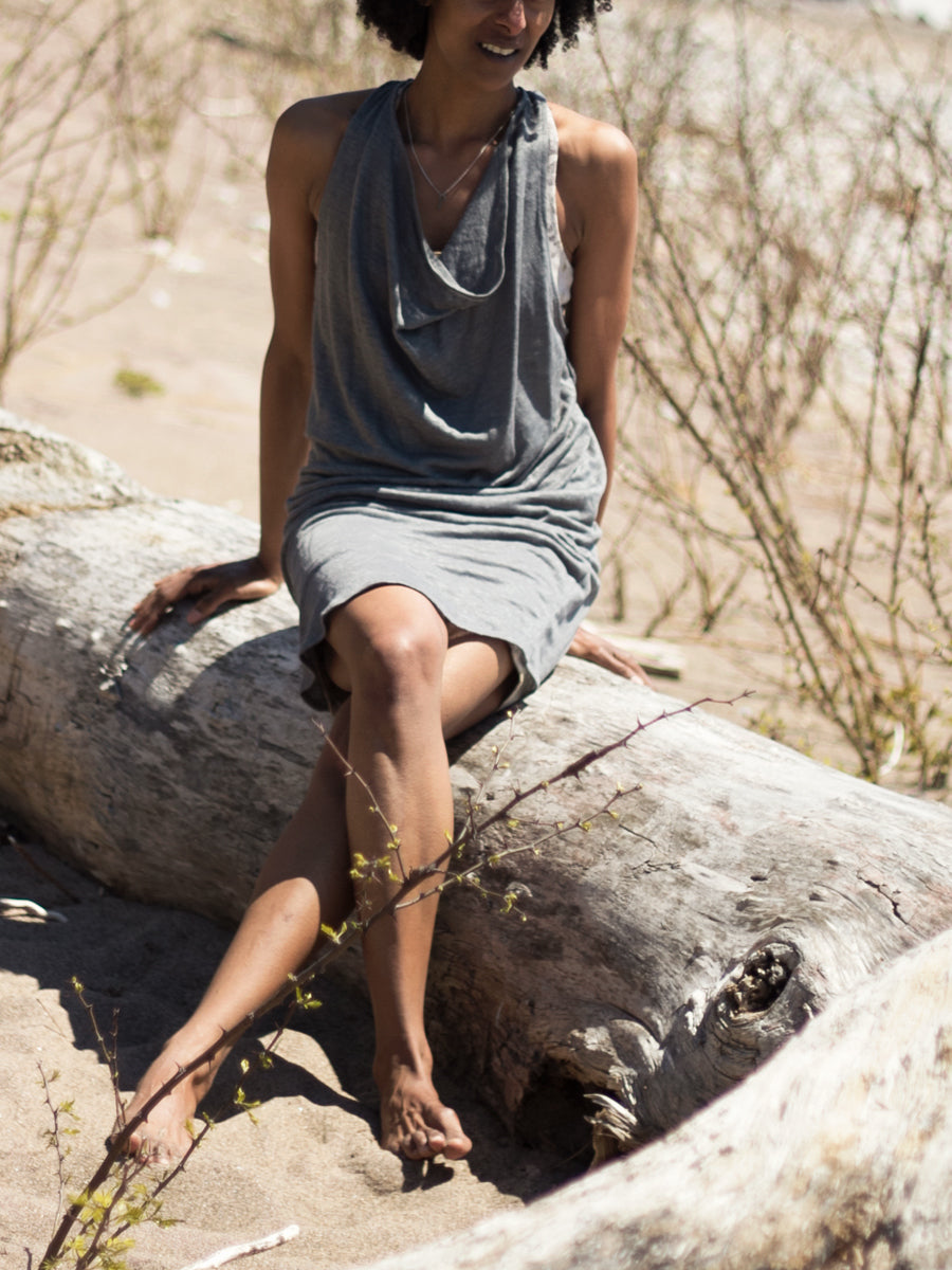 Zen Nomad Linen delphine tunic dress for layering over dress, leggings or beach cover up