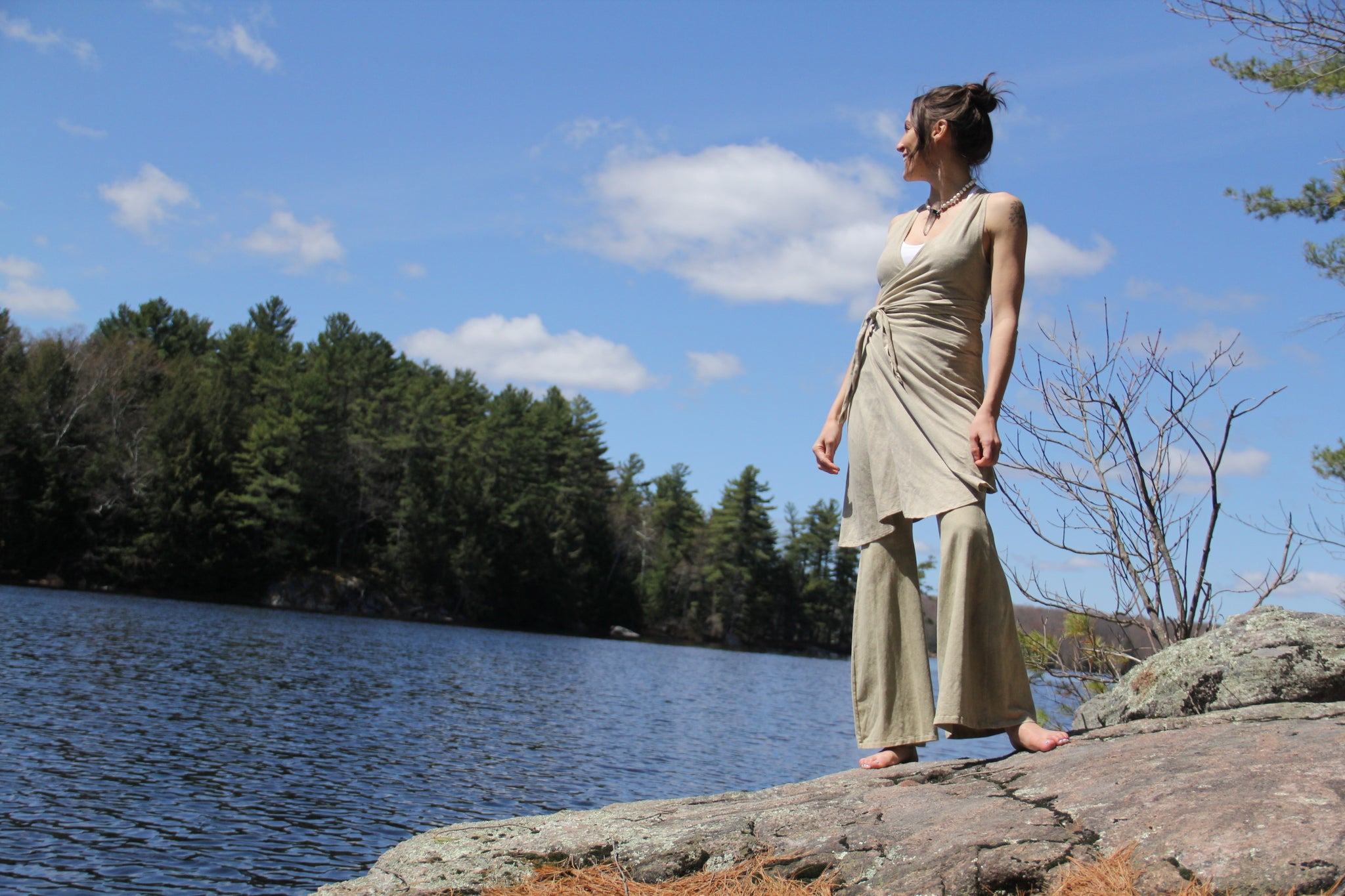 Forest Bells - Bell Bottoms - Limited Edition Natural Plant Dyed