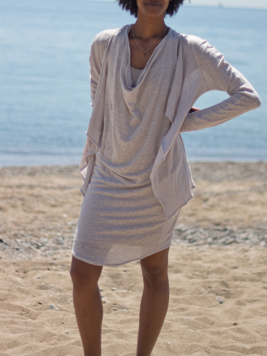 Long sleeve linen lightweight Cardigan Zen Nomad Leaf Cardi