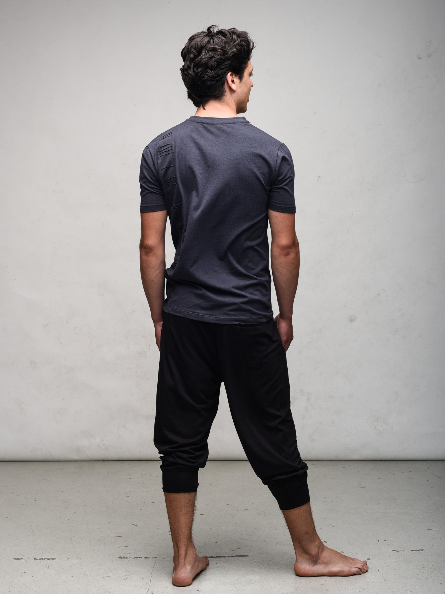Unisex Crossover Capri - Modal French Terry or Organic Cotton heavyweight.