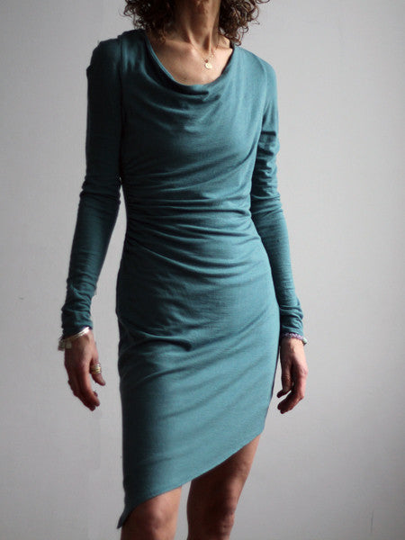 Womens merino wool leaf dress Zen Nomad