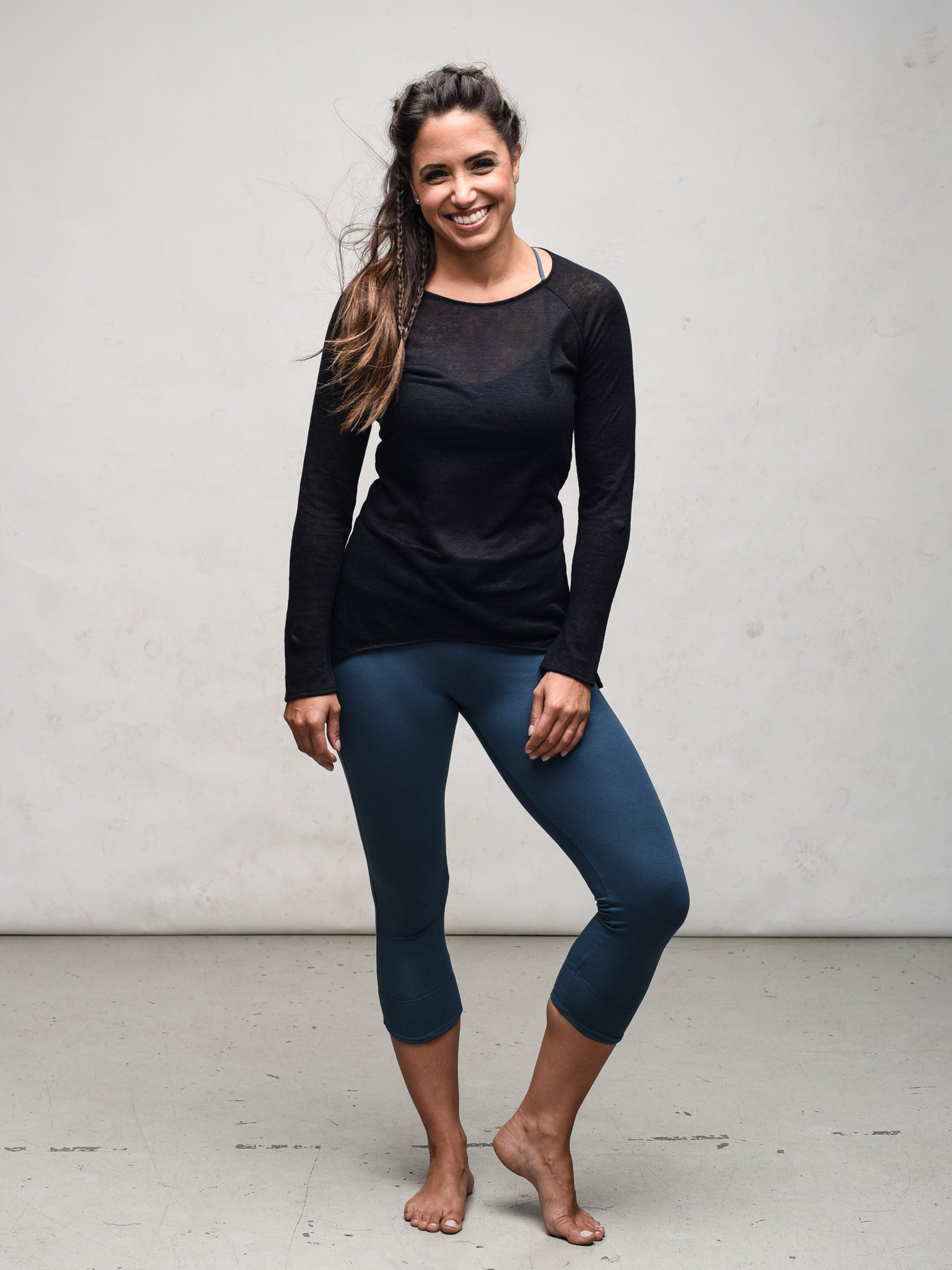 Bamboo jersey yoga capri by Zen Nomad