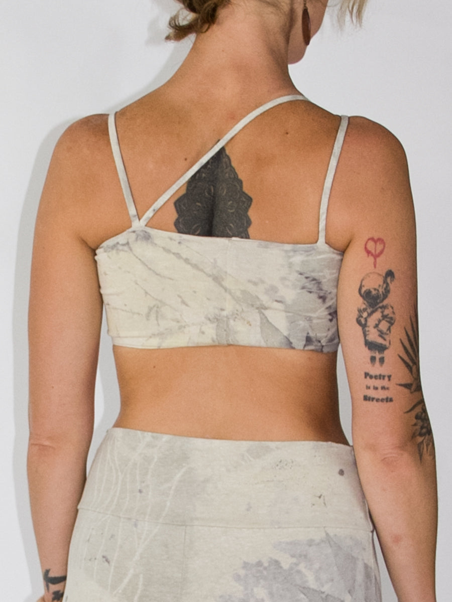 Asymmetrical Yoga Bra Shelf - Limited Edition - Natural Dye Series