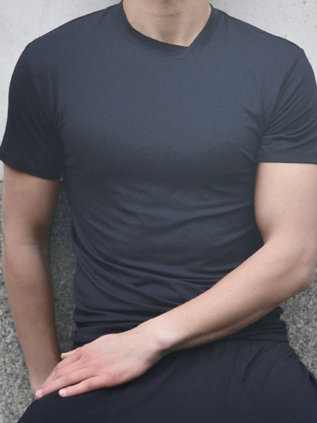 Men's Asymmetrical V-neck  T-shirt