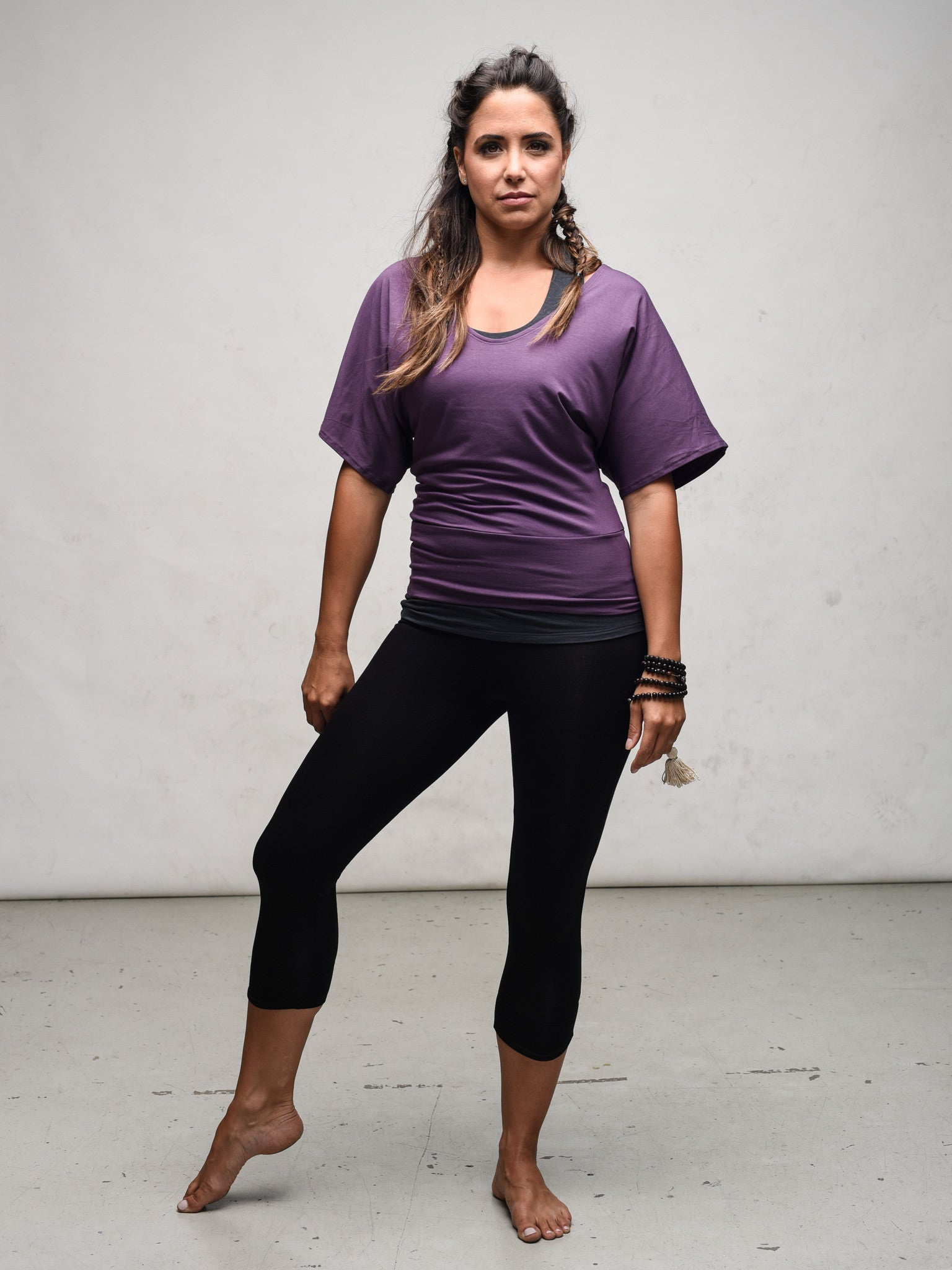 Bamboo jersey yoga capri made in Canada by Zen Nomad