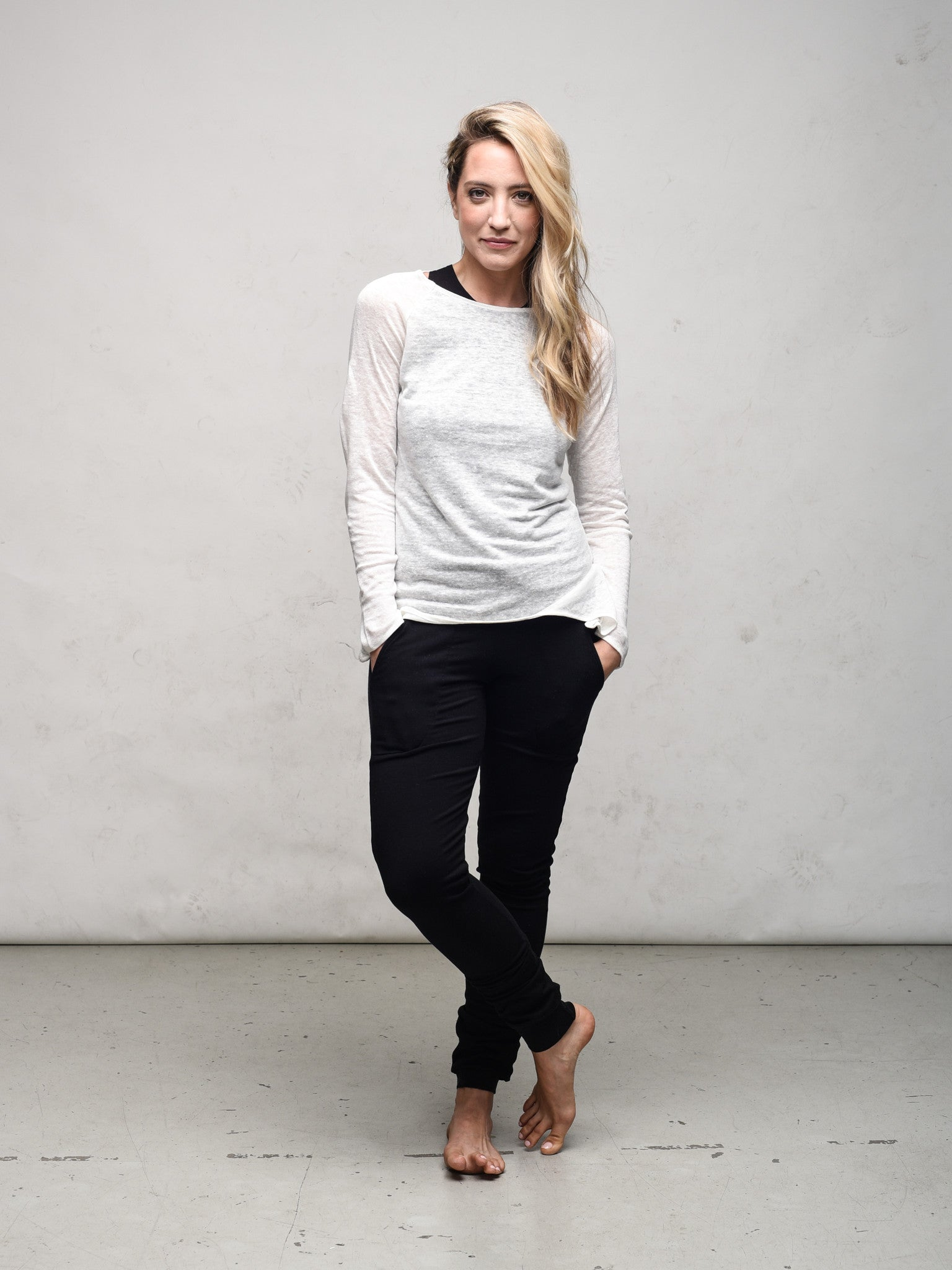 Linen Knit long sleeve top Elvin by Zen Nomad