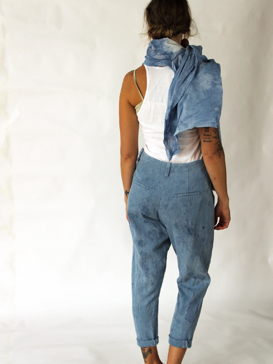 Unisex Crossover Hemp Indigo Lounge Jean - Limited Edition Natural Dye