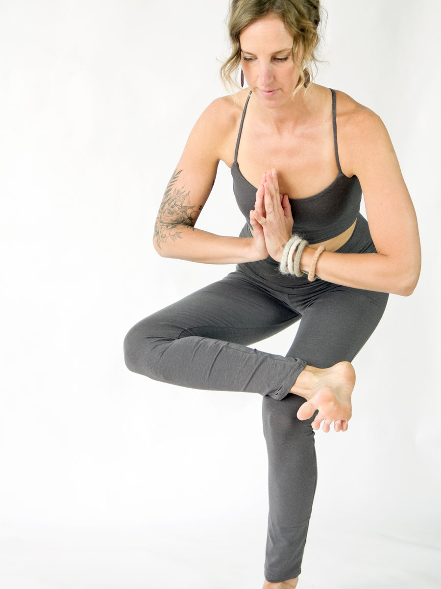 Symmetrical Yoga Bra - Hemp with Organic Cotton Stretch