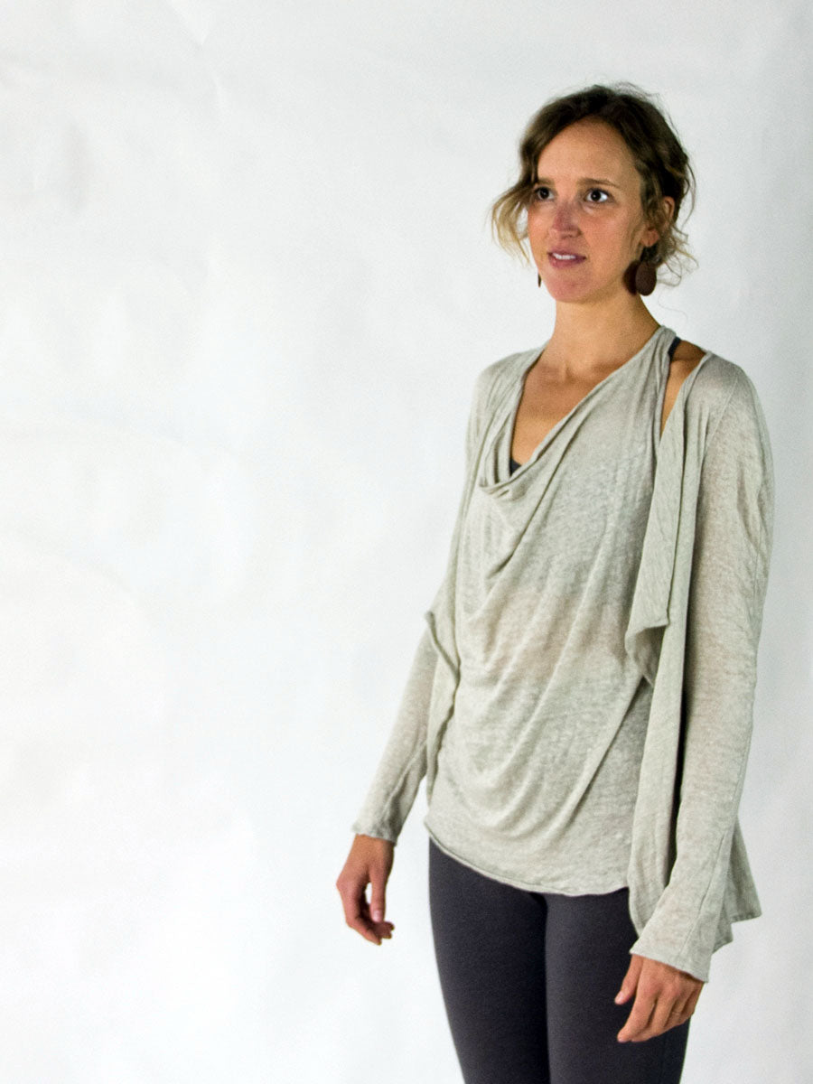 Linen Leaf Cardi - Natural Dye - Limited Edition