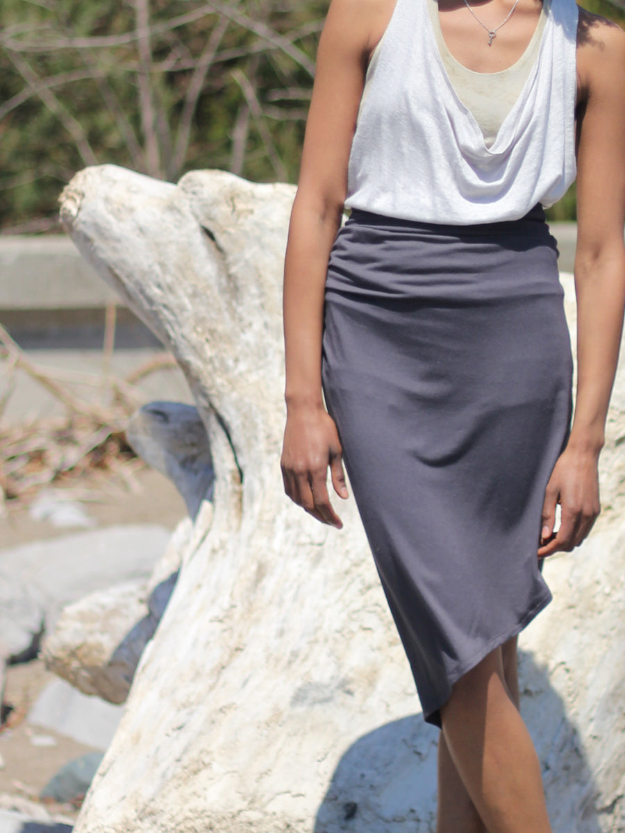 Leaf Skirt in Bamboo Jersey