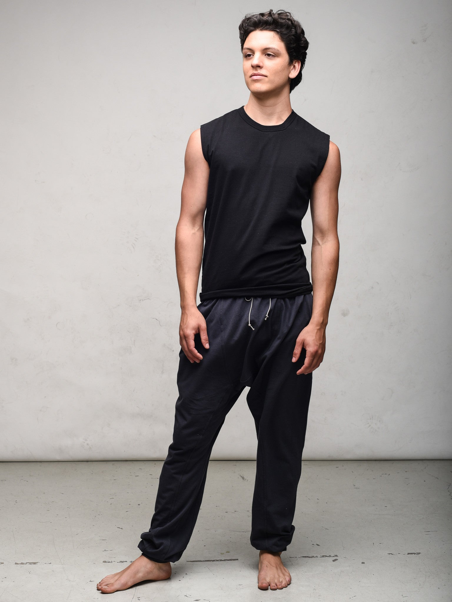 Zen Nomad mens sleeveless t shirt organic cotton and bamboo made in canada