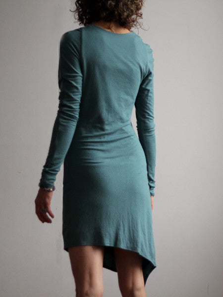Leaf Dress in Merino Wool
