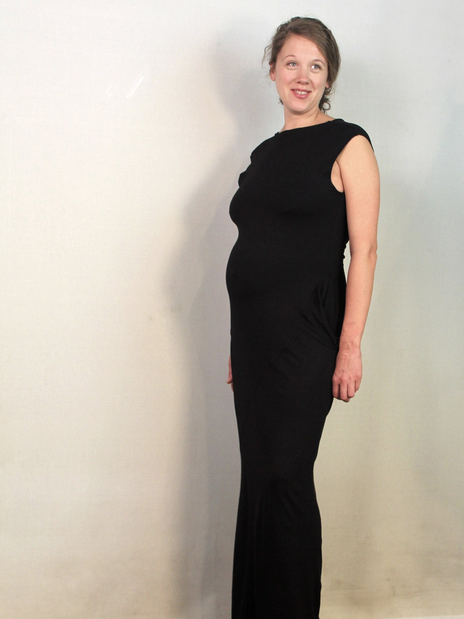 Zen NOmad and Thieves  Metamorph bamboo dress convertible to 24 , sustainable style, black Maternity