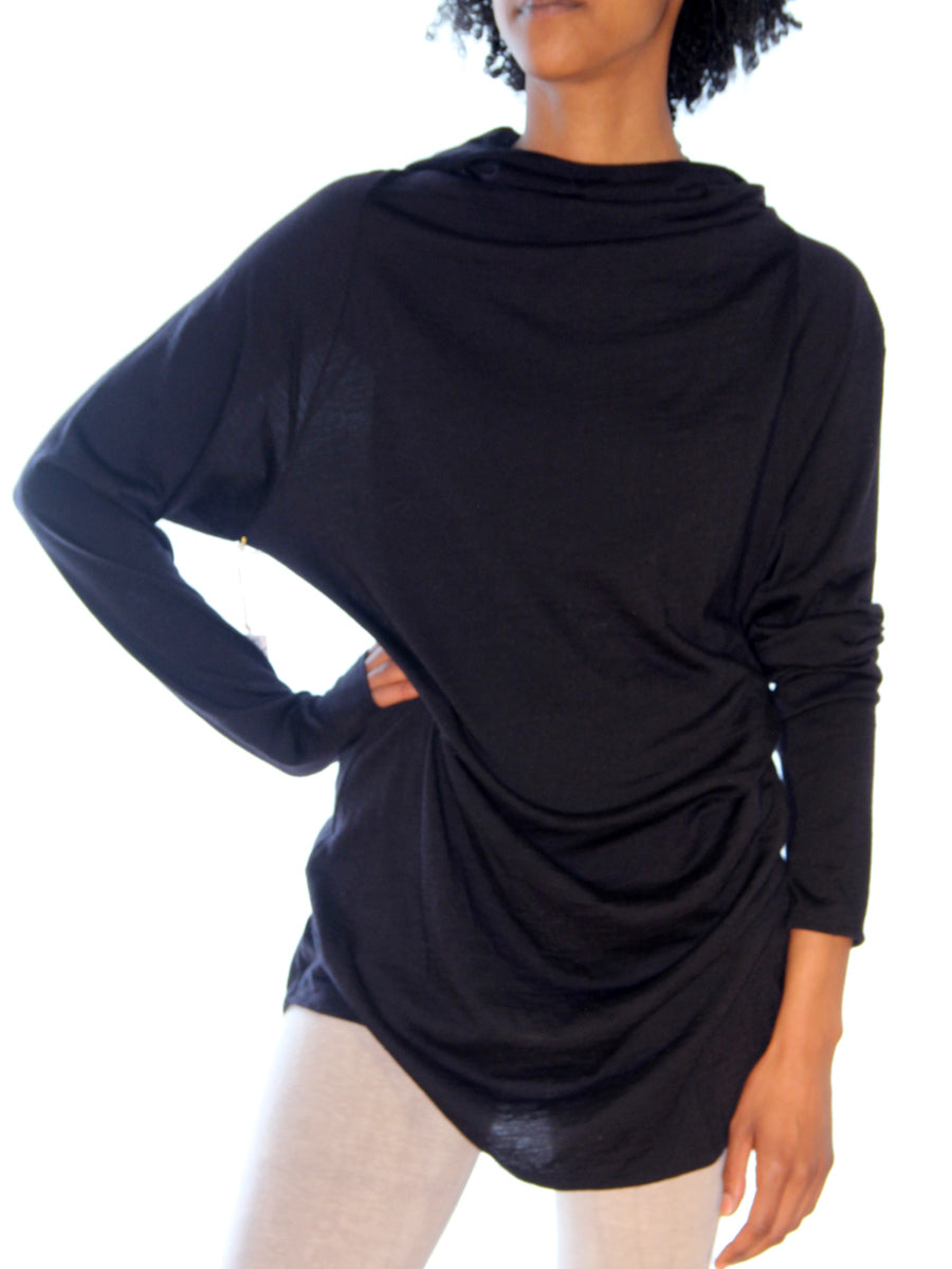 Hooded Movement Top in Merino Wool