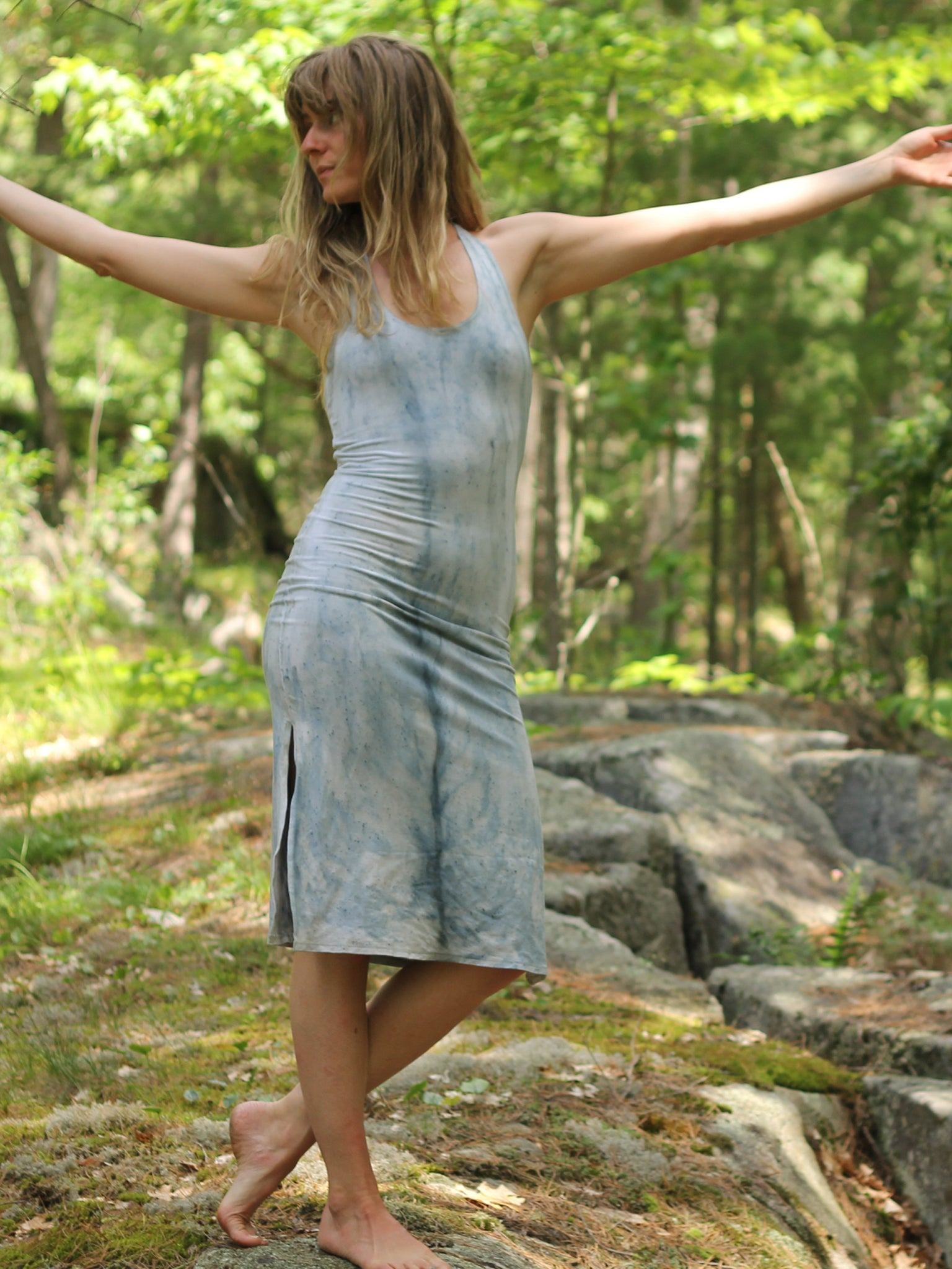 Racerback Tank Dress - Mid Length - Limited Edition Natural Dye