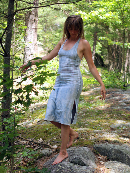 0aeaad92471fe Racerback Tank Dress - Mid Length - Limited Edition Natural Dye