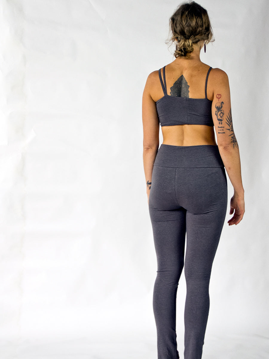 Asymmetrical Yoga Bra Shelf - Hemp/organic cotton