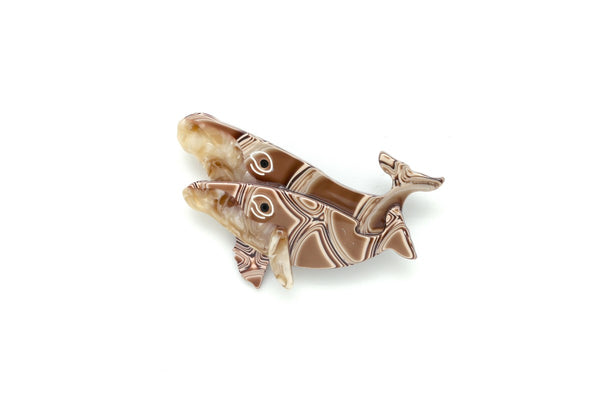 Broche Double Baleines