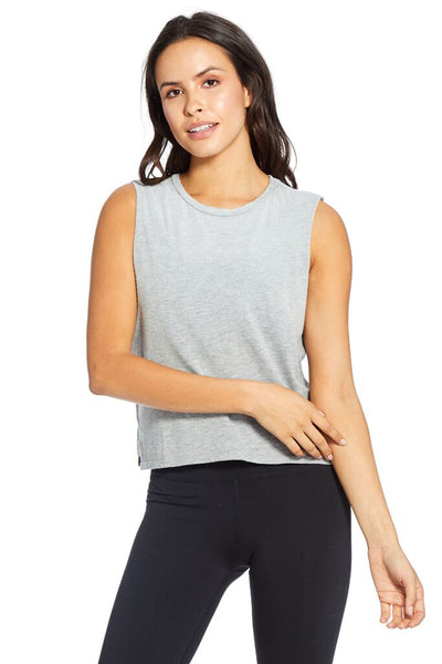Lili Crew Neck Crop Muscle Tank - T. Georgiano's