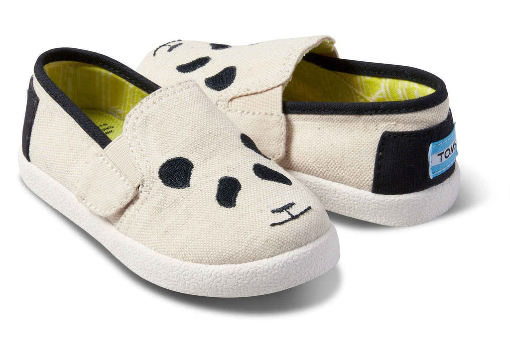 Panda Embroidered Tiny TOMS Avalon - T. Georgiano's