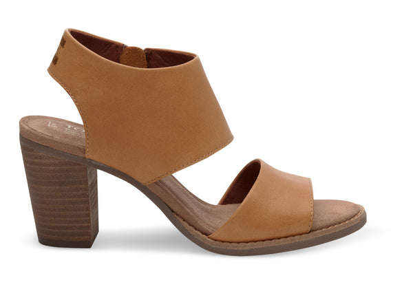 TOMS Tan Leather Majorca Cutout Sandals