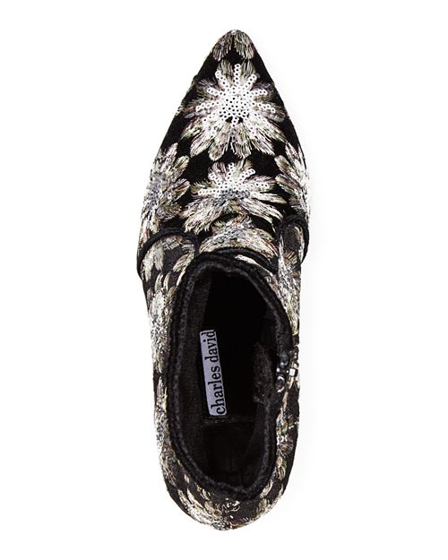 Charles David Pride Women's Pointed Toe Floral Firework Embroidered Booties - T. Georgiano's