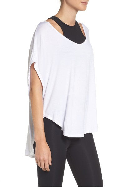 BEYOND YOGA Slink Or Swim Scalloped Tee