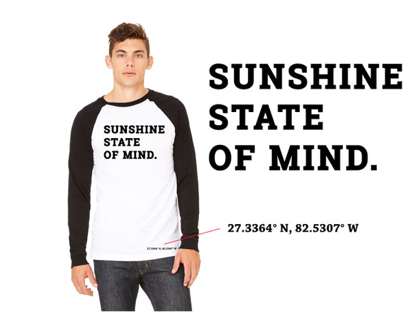 The Chad - Sunshine State of Mind Baseball Tee - UNISEX