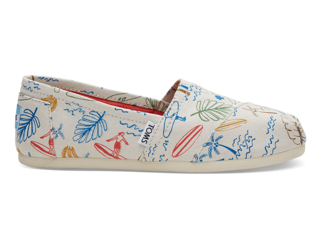 TOMS Grey Multi Surf City Print Classics