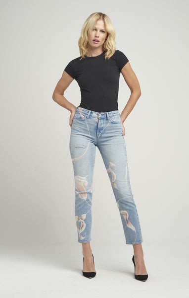 Hudson Zoeey High Rise Straight Jeans