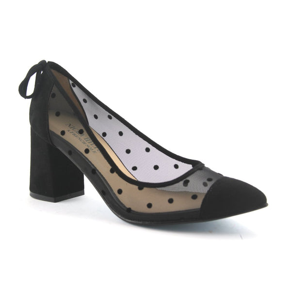 Holly Black Dot Mesh - Nicky Hilton x French Sole - T. Georgiano's