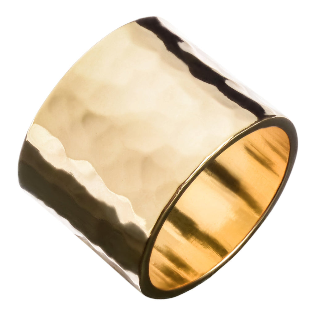 Hammered Cigar Band Ring - T. Georgiano's