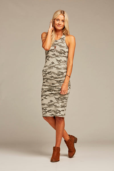 Runway Ruched Racerback Dress