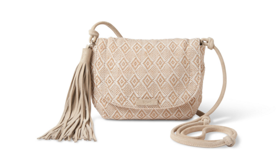 TOMS Natural Woven Mix Tassel Crossbody