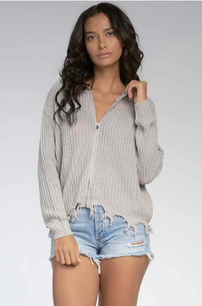 SW10256 Zip Up Sweater - T. Georgiano's