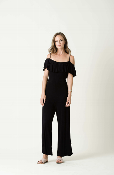 NYTT AUBREE ONE SHOULDER RUFFLE JUMPSUIT