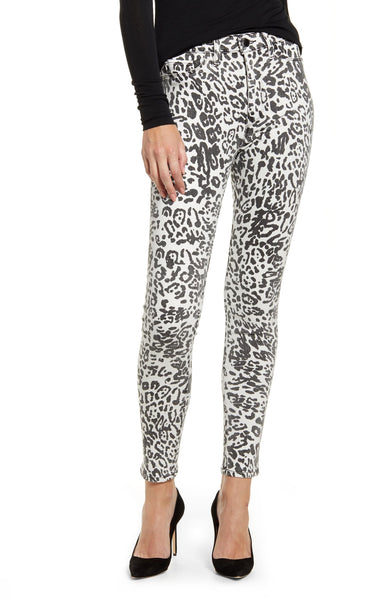 Barbara HW Super Skinny Ankle - White Leopard