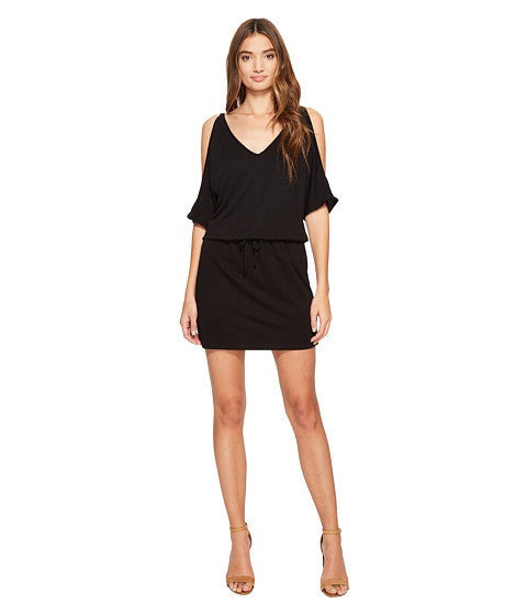 Lanston Cold Shoulder V Neck Dress
