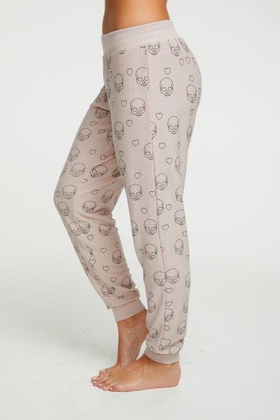 Cozy Knit Jogger - Litte Skulls - T. Georgiano's