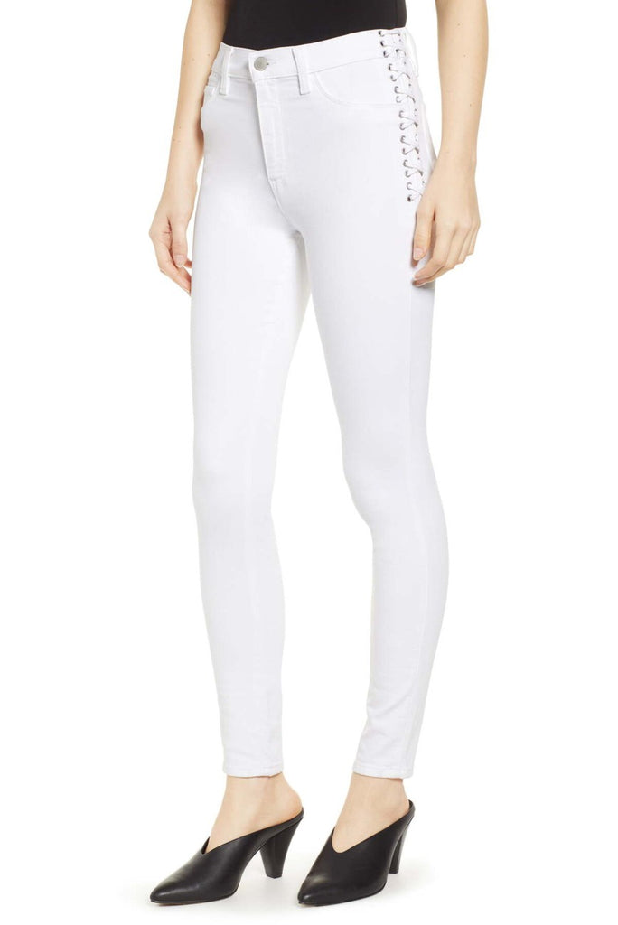 Barbara HW Super Skinny Ankle - Braided White - T. Georgiano's