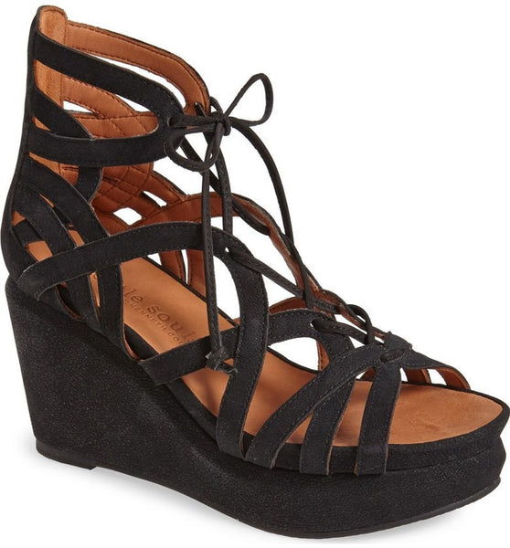 JOY LACE UP NUBUCK WEDGE Details GENTLE SOULS BY KENNETH COLEDETAILS - T. Georgiano's