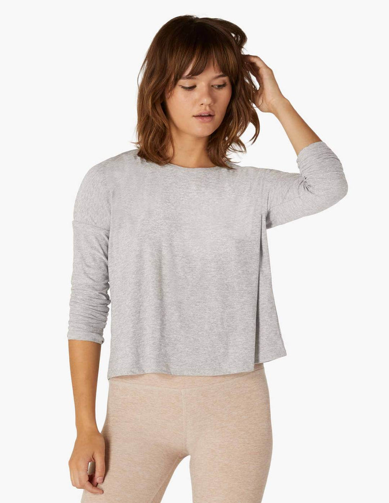 Beyond Yoga Morning Light Cropped Pullover - T. Georgiano's